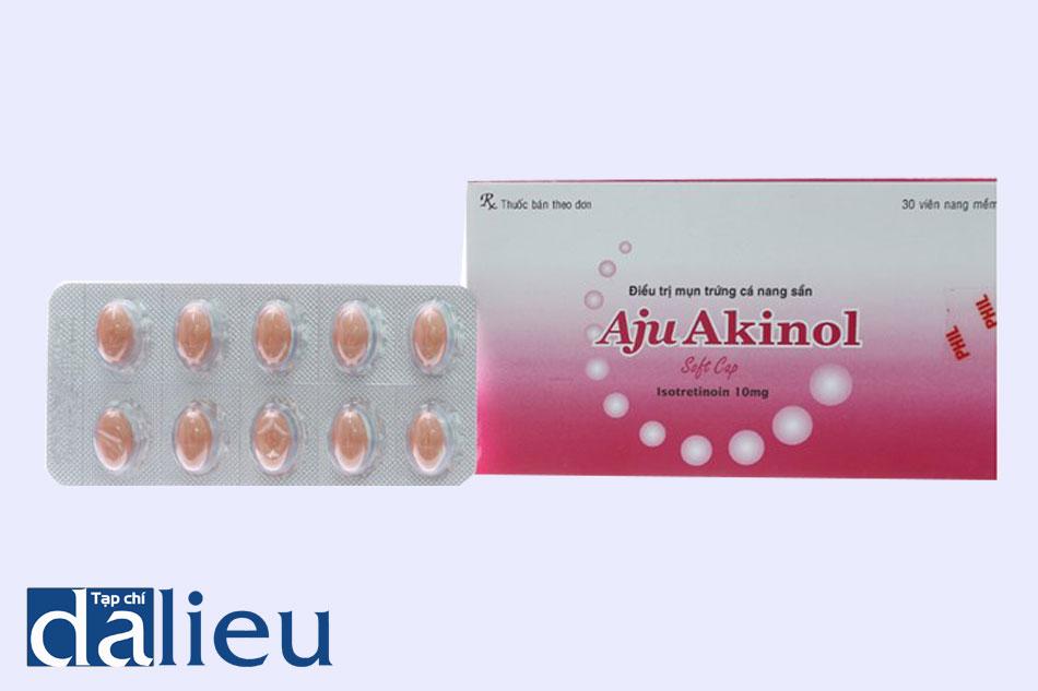 Thuốc Aju Akinol được bào chế dạng viên nang mềm.