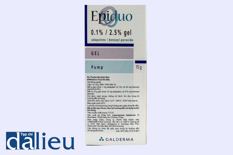 Thuốc Epiduo phù hợp với mọi loại da