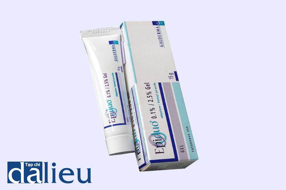 Thuốc Epiduo được bào chế dạng gel trong suốt