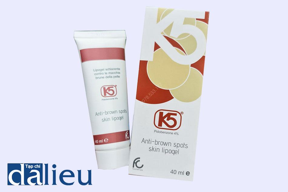 Sản phẩm K5 Lipogel được bào chế dạng gel bôi ngoài da
