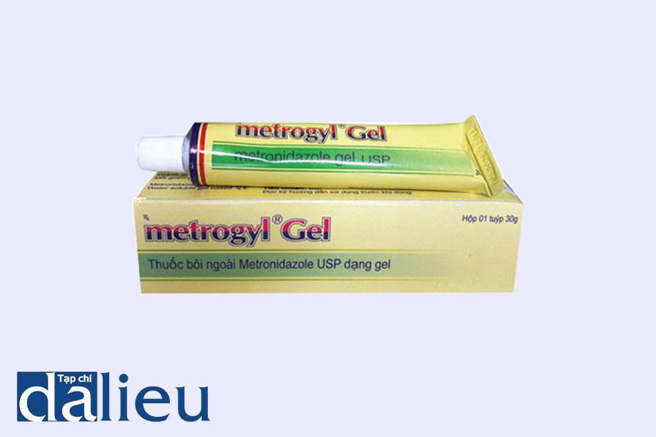 Thuốc da liễu Metrogyl gel được dùng bôi ngoài da