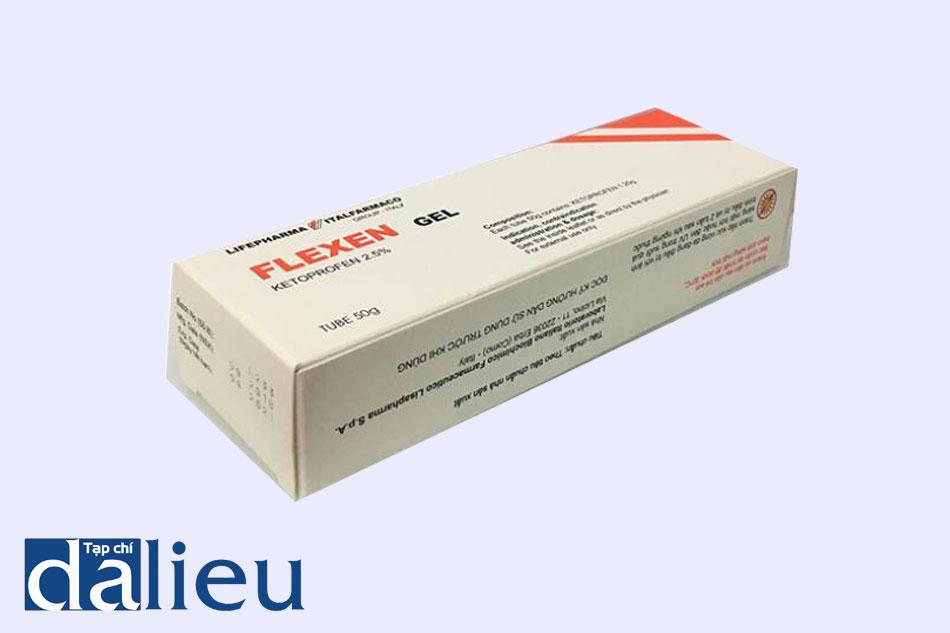 Flexen gel là hoạt chất Ketoprofen có hàm lượng 2.5 gam