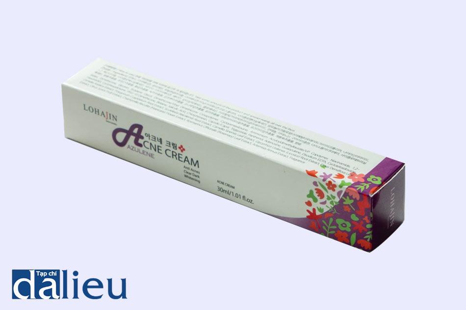 Hình ảnh hộp kem trị mụn Lohajin Acne Azulene Cream