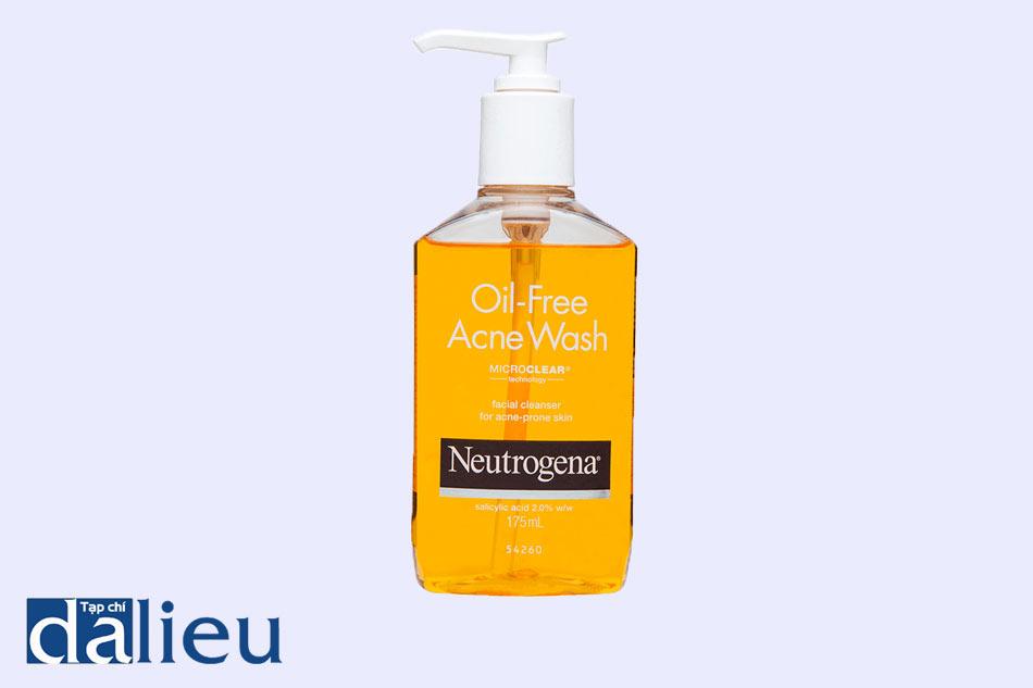 Sữa rửa mặt trị mụn ẩn Neutrogena Acne Wash MicroClear