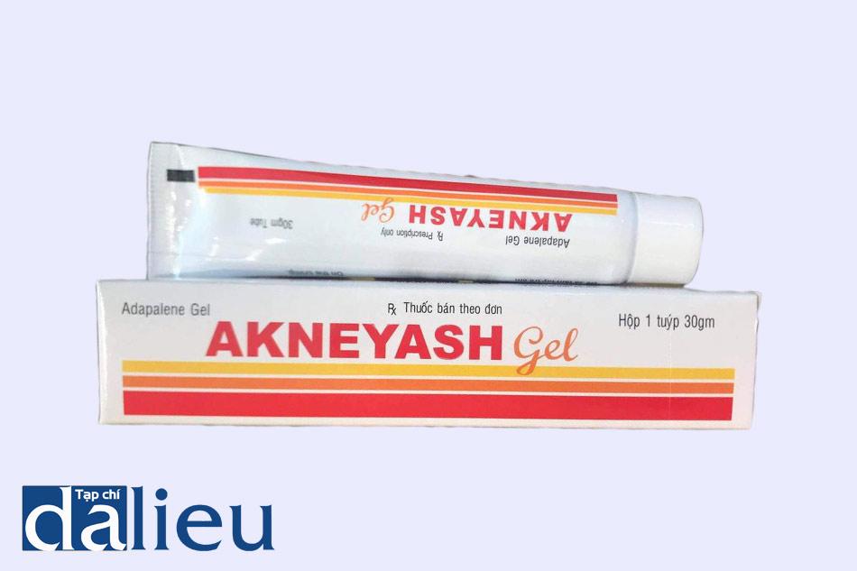 Hình ảnh hộp và tuýp thuốc Akneyash gel