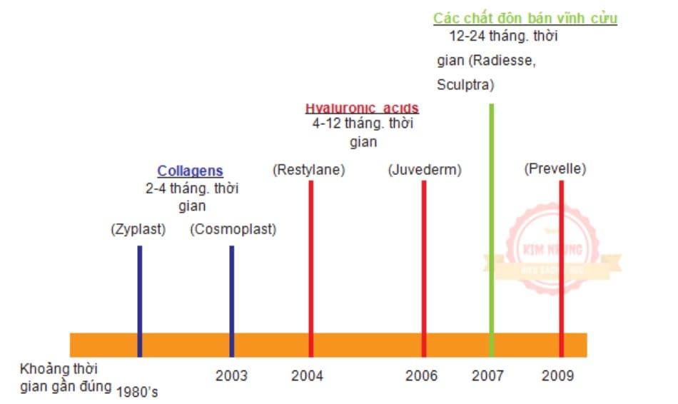 FIGURE 4 ● Lịch sử của các chất độn da