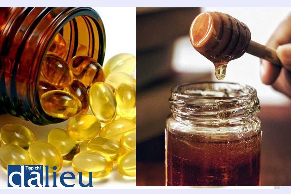 Mặt nạ phục hồi da từ mật ong nguyên chất và Vitamin E