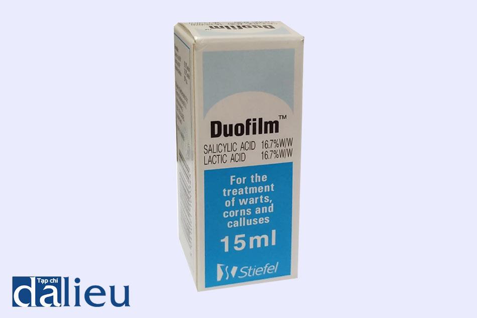 Thuốc Duofilm bào chế dạng dung dịch bôi ngoài da