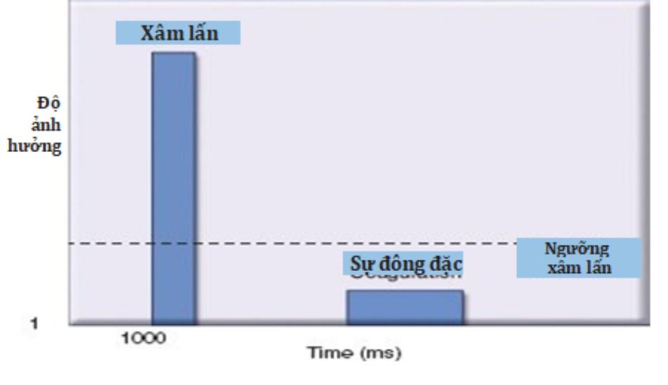 Hình 4: Sự xâm lấn và đông đặc của các laser xâm lấn