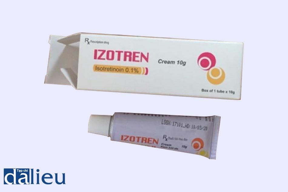 Hình ảnh tuýp thuốc trị mụn Izotren