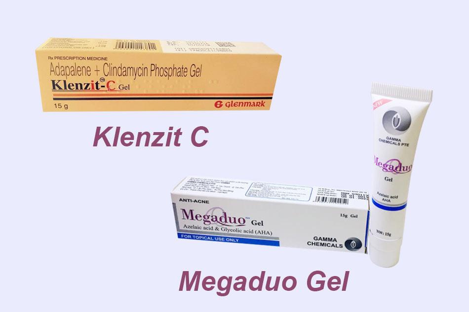 So sánh hiệu quả Megaduo Gel và Klenzit C