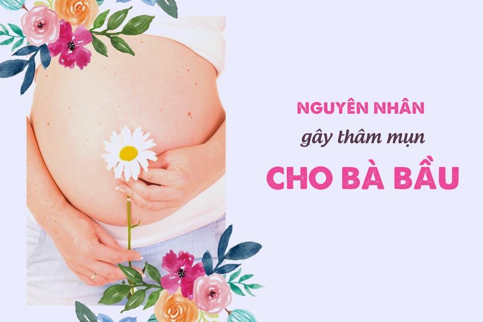 Những nguyên nhân chủ yếu gây nên mụn cho mẹ bầu